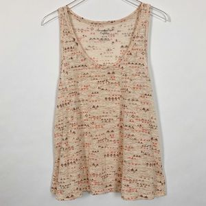 American Eagle Outfitters Peach Tank women size XL